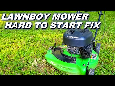Fixing a hard to start Lawnboy mower