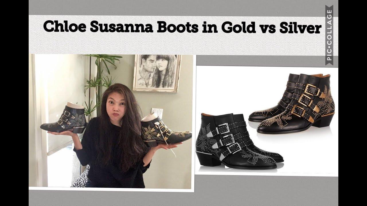 Chloe Susanna Boots Gold vs Silver