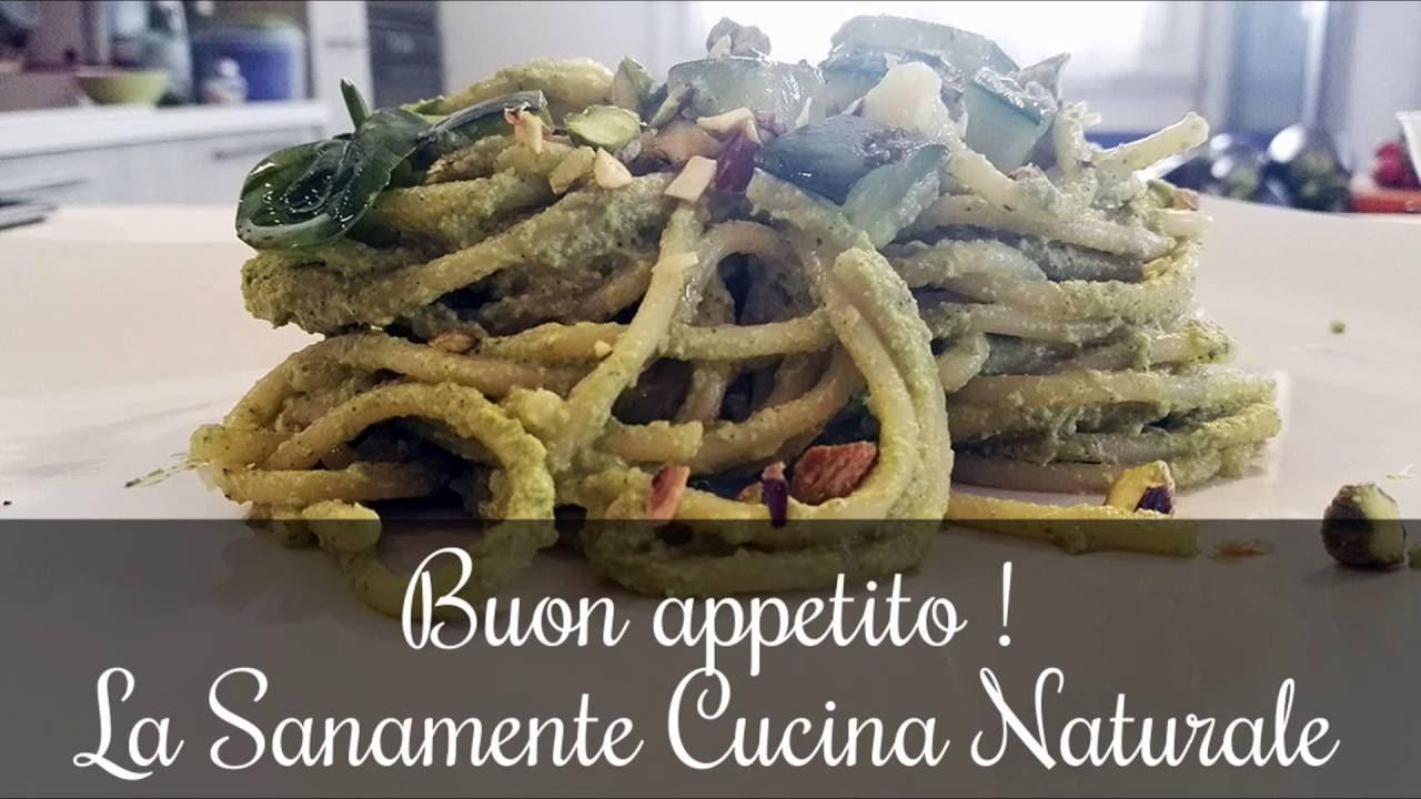 Spaghetti al pesto di zucchine e pistacchi  La SanaMente cucina naturale  YouTube