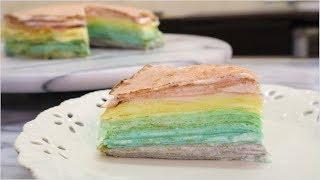 【免烤箱】 彩虹千層蛋糕 #145【明聰Leo】