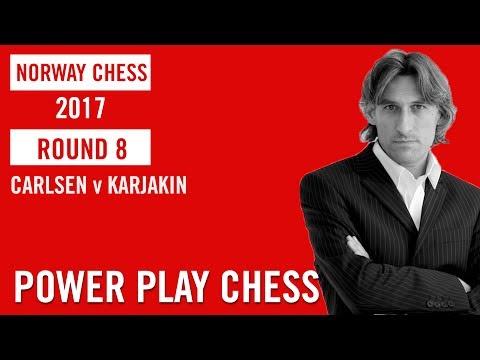 Norway Chess 2017 Round 8 Magnus Carlsen v Sergey Karjakin