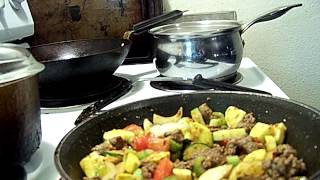 Quick Beef Garlic Ginger & Summer Vegetable Saute' Rice 1/2 Chef John The Ghetto Gourmet