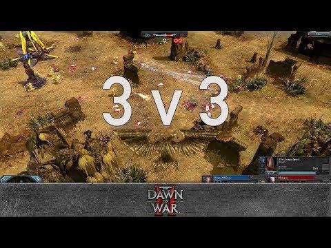 Dawn of War 2 - 3v3 | Morgan MLGman + Rostam + Nurland [vs] Harlequin + yz + Romulus Beserk