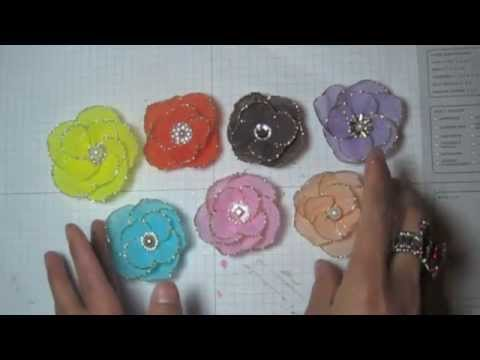 DIY:Easy to make Crepe paper flower tutorial by SaCrafters