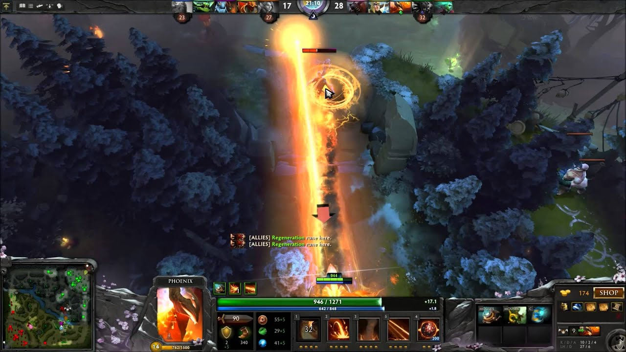 dota 2 phoenix guide and tips support youtube