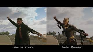 Black Panther - Trailer VFX/grading comparison