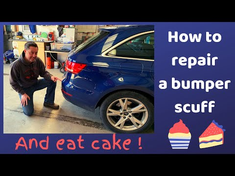 HOW TO REPAIR A  BUMPER SCUFF & CAKE REVIEW!! WE LOVE CAKE! CHECK THIS OUT!