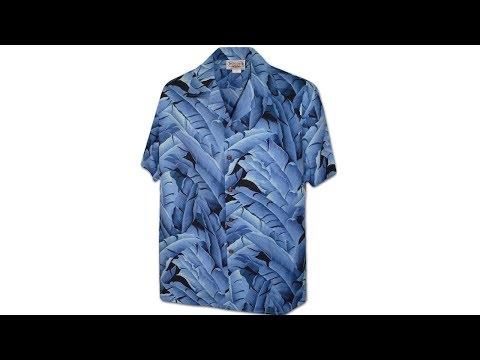Гавайская рубашка Pacific Legend 410-3872 Blue
