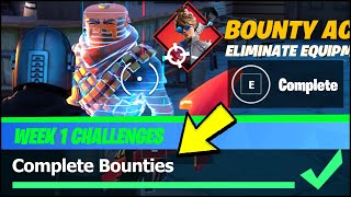 Complete Bounties & Bounties LOCATIONS - Fortnite Season 5 Week 1 Challenges