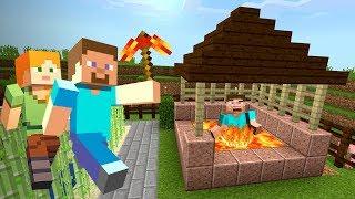 СКИНУЛ ГРИФЕРА в БЕЗДОННЫЙ КОЛОДЕЦ с ЛАВОЙ в МАЙНКРАФТ ВЫЖИВАНИЕ Minecraft 9