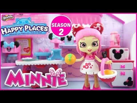 DISNEY Shopkins Happy Places Season 2 Minnie Mouse Breakfast Nook Theme Pack Unboxing