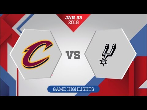 Cleveland Cavaliers vs San Antonio Spurs: January 23, 2018