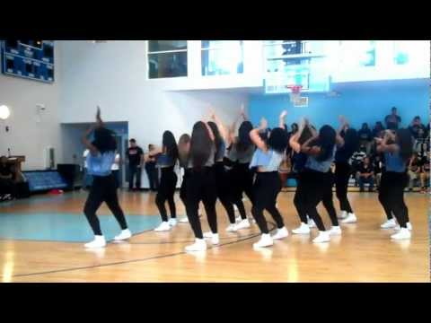 VARSITY PANTHERETTES BLACK HISTORY MONTH 90'S THROW BACK PEP RALLY