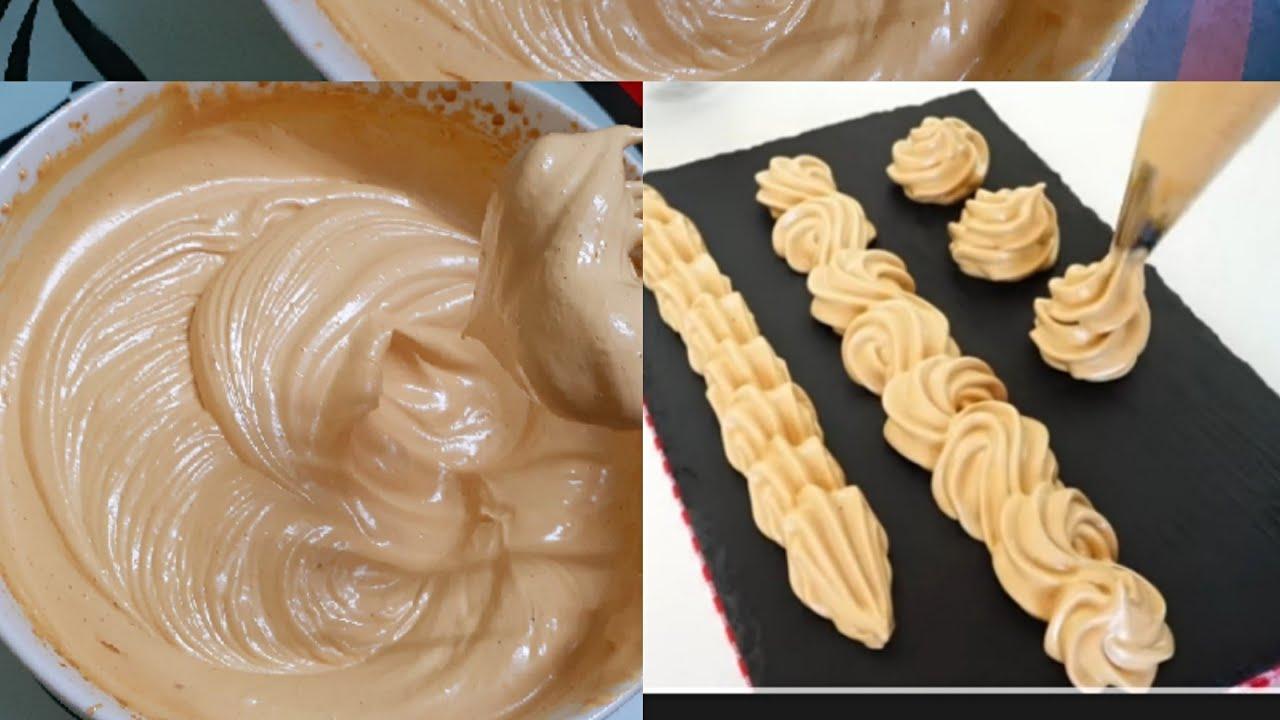How to make coffee whipped cream frosting/ কোনো রকমের ...