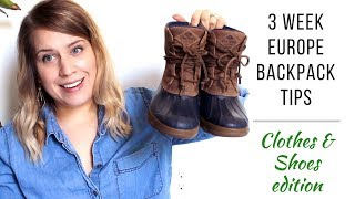 Minimal Packing | Clothes & Shoes