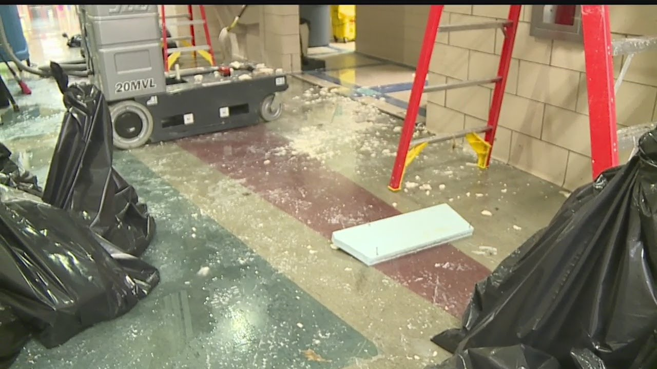 Fire sprinkler system bursts causing water damage in Brookfield schools