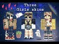 Pixel gun 3d three girls skins