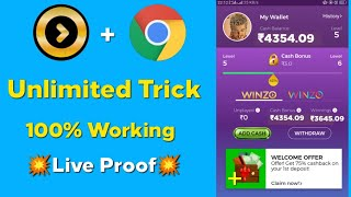 Unlimited Trick!! Winzo Gold App Game Easy Winning Secret Trick Explained in Tamil