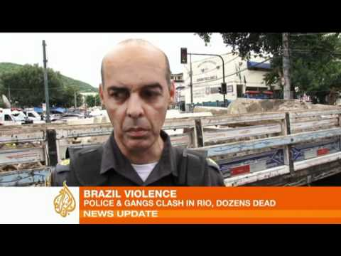 Brazilian police clash with gangs in Rio