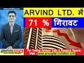 ARVIND LTD  में 71 % गिरावट | ARVIND LTD SHARE DEMERGER