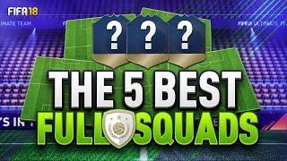 THE 5 BEST FULL ICON SQUADS IN FIFA18!!!