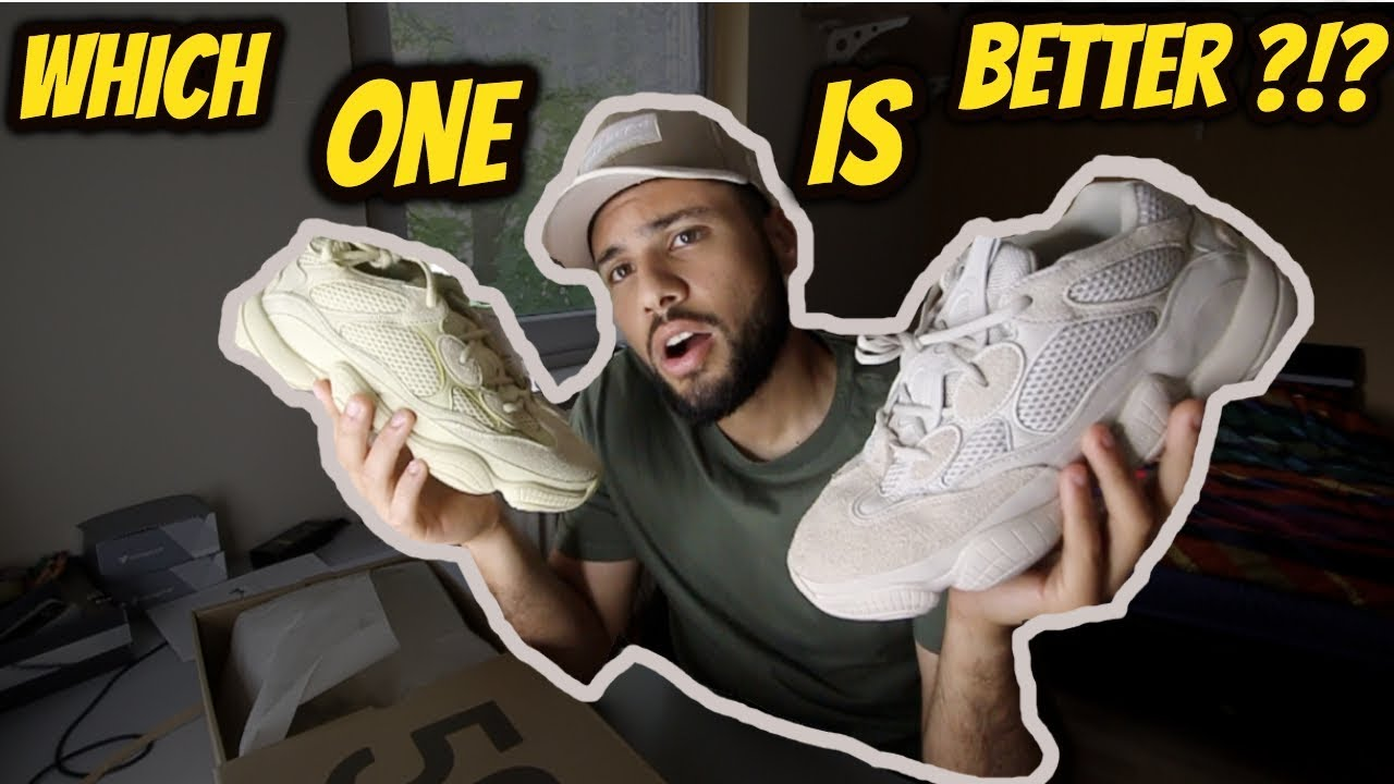 Adidas Yeezy 500 Super Moon Yellow Vs Blush Which One 2 Get