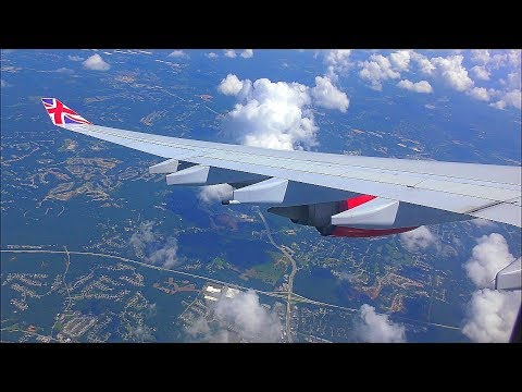 Virgin Atlantic Airbus A340-642 | London Heathrow to Atlanta *Full Flight*