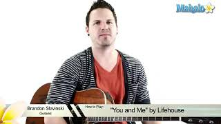 Lifehouse - You and Me Guitar tutorial