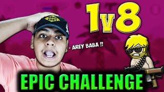 Mini Militia 1vs8 EPIC CHALLENGE !! RPG MOD EPIC GODLIKE GAMEPLAY   Doodle Army 2: Mini Militia #113