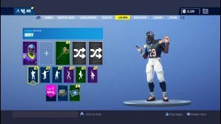 Fortnite 60 BACK BLINGS ON Chicago Bears Skin