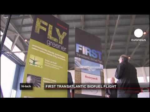 euronews hi-tech - Vol transatlantique au carburant bio