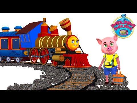 Piggy On The Railway Line Poem Lyrics - English Nursery Rhymes Songs for Kids/Children | Mum Mum TV Mp3