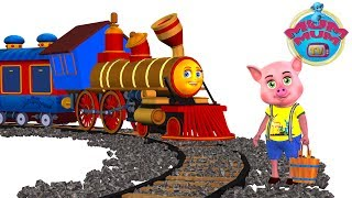 Download youtube to mp3: Piggy On The Railway Line Poem Lyrics - English Nursery Rhymes Songs for Kids/Children | Mum Mum TV
