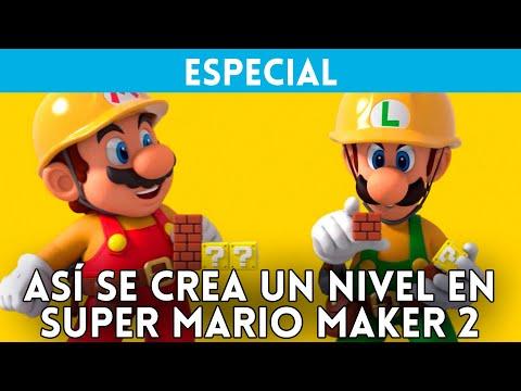 SUPER MARIO MAKER 2 (Switch) Así se CREA un NIVEL entre 2 JUGADORES; Retamos a NintenDúo