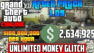 GTA 5 ONLINE - 100 MILLION IN 30 SECS! Fastest Unlimited Money Glitch After Patch 1.09!