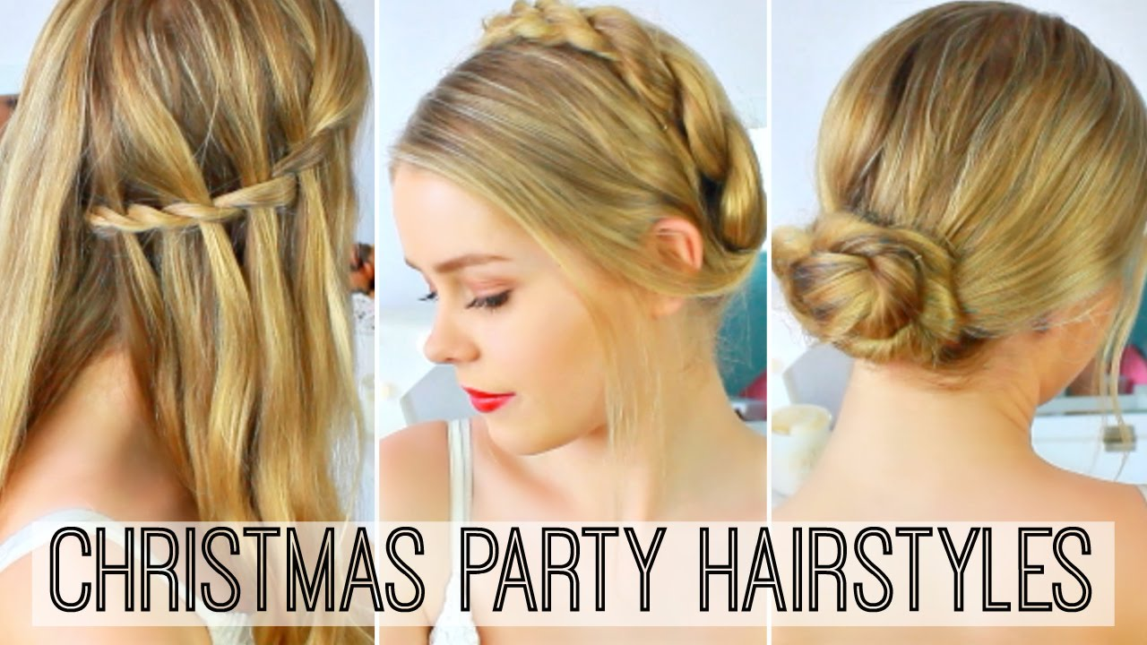 holiday or christmas party hairstyles