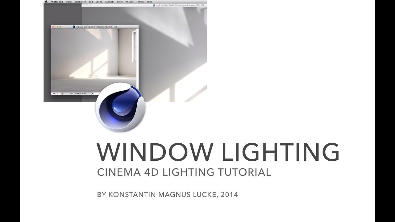 Lighting a window scene cinema 4d tutorial youtube for Window lights