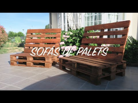 Sof de palets paso a paso youtube for Sofa de palets exterior