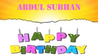 AbdulSubhan   Wishes & Mensajes - Happy Birthday