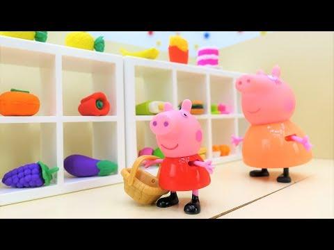 Video con i giocattoli di Peppa Pig. Sorpresa per la festa del pap. Giochi per bambini