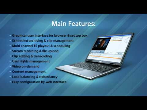 Teracue iCue Server for IPTV, Stream-Recording and Playout