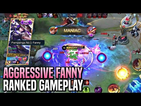 ENEMY LANCELOT CAN'T EVEN TOUCH HIS BUFF!   AGGRESSIVE FANNY   RANKED GAMEPLAY   MLBB