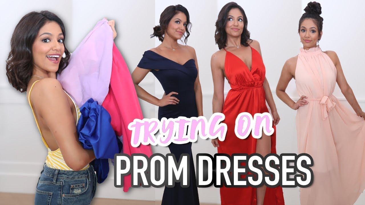Trying on $30 Prom Dresses from Amazon! | Bethany Mota - YouTube
