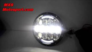 V729 Cree LED Projector Headlight DRL Royal Enfield Bullet by Mxsmotosport