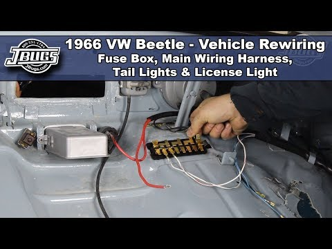 JBugs - 1966 VW Beetle - Vehicle Rewiring - Main Wiring ... on
