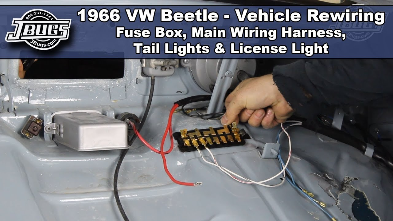 jbugs 1966 vw beetle vehicle rewiring main wiring harness [ 1280 x 720 Pixel ]