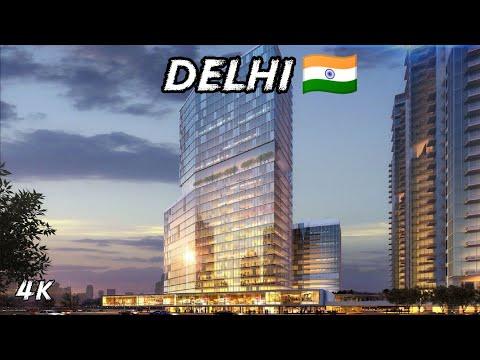 DELHI - MODERN NEW DELHI ||  BEAUTIFUL CITY IN 4K || CAPITAL CITY OF INDIA ||