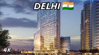 DELHI - MODERN NEW DELHI ||  BEAUTIFUL CITY IN 4K ...