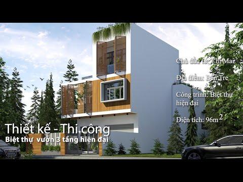 Biệt thự 3 tầng công năng toàn vẹn tại Bến Tre   Tư vấn – Thiết kế – Thi công   Phan Kiến Phát Corp