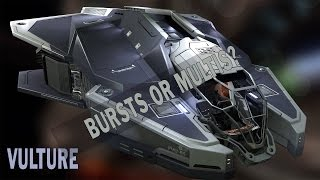 Elite:Dangerous. Trying Vulture with Large Burst Lasers or Multi-Cannons
